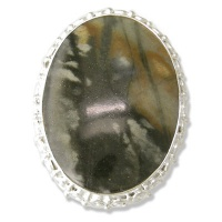 Picasso Marble Silver Ring