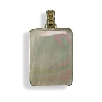 Mother of Pearl Pendant w/Vermeil Beads