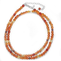 Autumn Colored Beaded Necklace