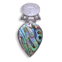Paua and Rainbow Moonstone Pendant