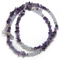 Amethyst and Blue Chalcedony Necklace