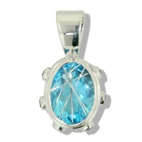 Blue Rutilated Quartz Silver Pendant
