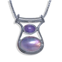 Mabe and Tanzanite Pendant