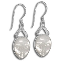 Mother of Pearl Oval Goddess Earrings
