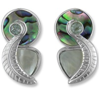 Mother of Pearl and Paua Post Earrings