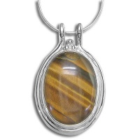 Sterling Pendant with Tiger Eye