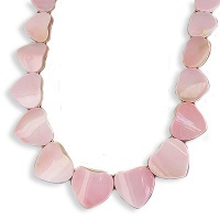 Pink Shell Heart Necklace