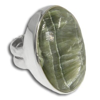Seraphinite Sterling Silver Ring