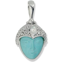 Turquoise Goddess Silver Pendant