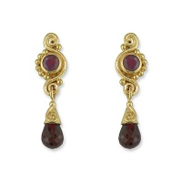 Garnet and Ruby Vermeil Earrings