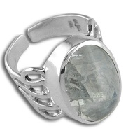 Rainbow Moonstone Sterling Ring