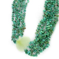 Turquoise and Serpentine Beaded Necklace