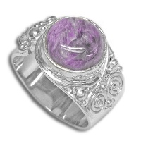 Charoite Sterling Wrap-Around Ring
