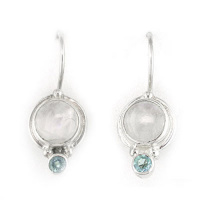 Rainbow Moonstone & Apatite Latchback Earrings