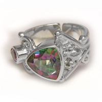 Mystic Topaz Ring with Amethyst