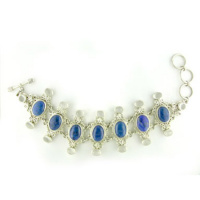 Denim Lapis and Moonstone Link Bracelet
