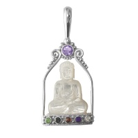 Mother of Pearl Buddha Pendant- Last Of!