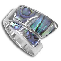 Paua Shell Wrap-Around Ring