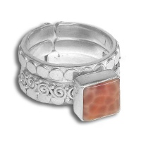 Fire Agate Stack Ring