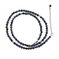 Lapis, Onyx and Blue Crystal Beaded Necklace