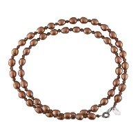 Copper Freshwater Pearl & Smoky Quartz Necklace