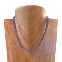 "18"" Tanzanite Beaded Necklace"