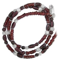 Garnet and Mother of Pearl Beaded Necklace