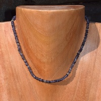 Iolite Beaded Necklace 16""