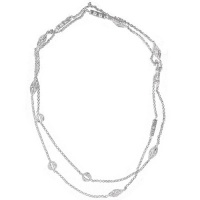 Sterling Silver Filigree & Link Stations Necklace