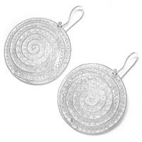 Large Spiral Sterling Silver Filigree Earrings