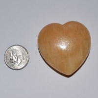 Hand-Carved Honycomb Calcite Hearts 45x48mm Set of 10