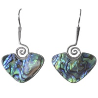 "Paua Shell ""Koru"" Earrings"