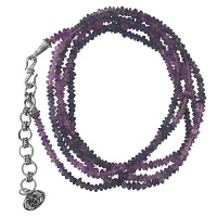 Third Eye Chakra Amethyst and Iolite Necklace