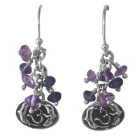 6th Chakra Amethyst and Iolite Earrings