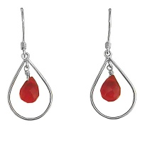 Suspended Red Opalite Drop Earrings
