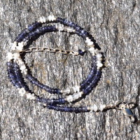 "Labradorite, Iolite & Moonstone Beaded 18"" Necklace"