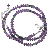 Amethyst, Iolite, & Peridot Beaded Necklace