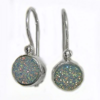 Golden Dream Teal Druzy Earrings