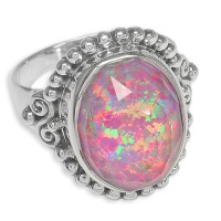 Lotus Pink Opal Quartz Ring