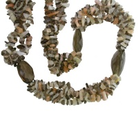 Moonstone and Smoky Quartz Beaded Necklace