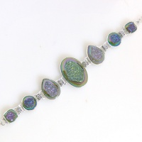Forest Window Druzy Bracelet