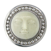 Sterling Silver Bead Goddess Pin Pendant
