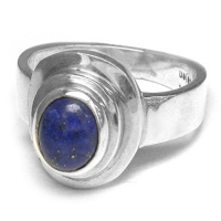 Sterling Silver Lapis Oval Ring