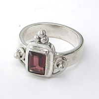 ONE-OF-A-KIND Garnet Rectangle Ring