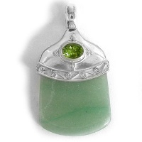 Aventurine and Peridot Pendant