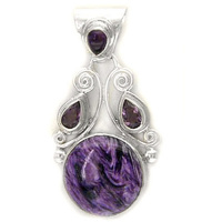 Chaorite Pendant with Amethyst
