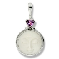 Goddess Pendant with Amethyst Trillion