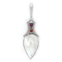 Ruby, Garnet, and Mother of Pearl Pendant