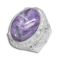 Charoite Oval Ring