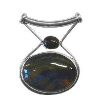 Pietersite Pendant with Black Star Diopside